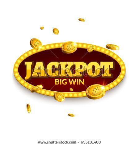 Jackpot Gambling Retro Banner Decoration Business Jackpot