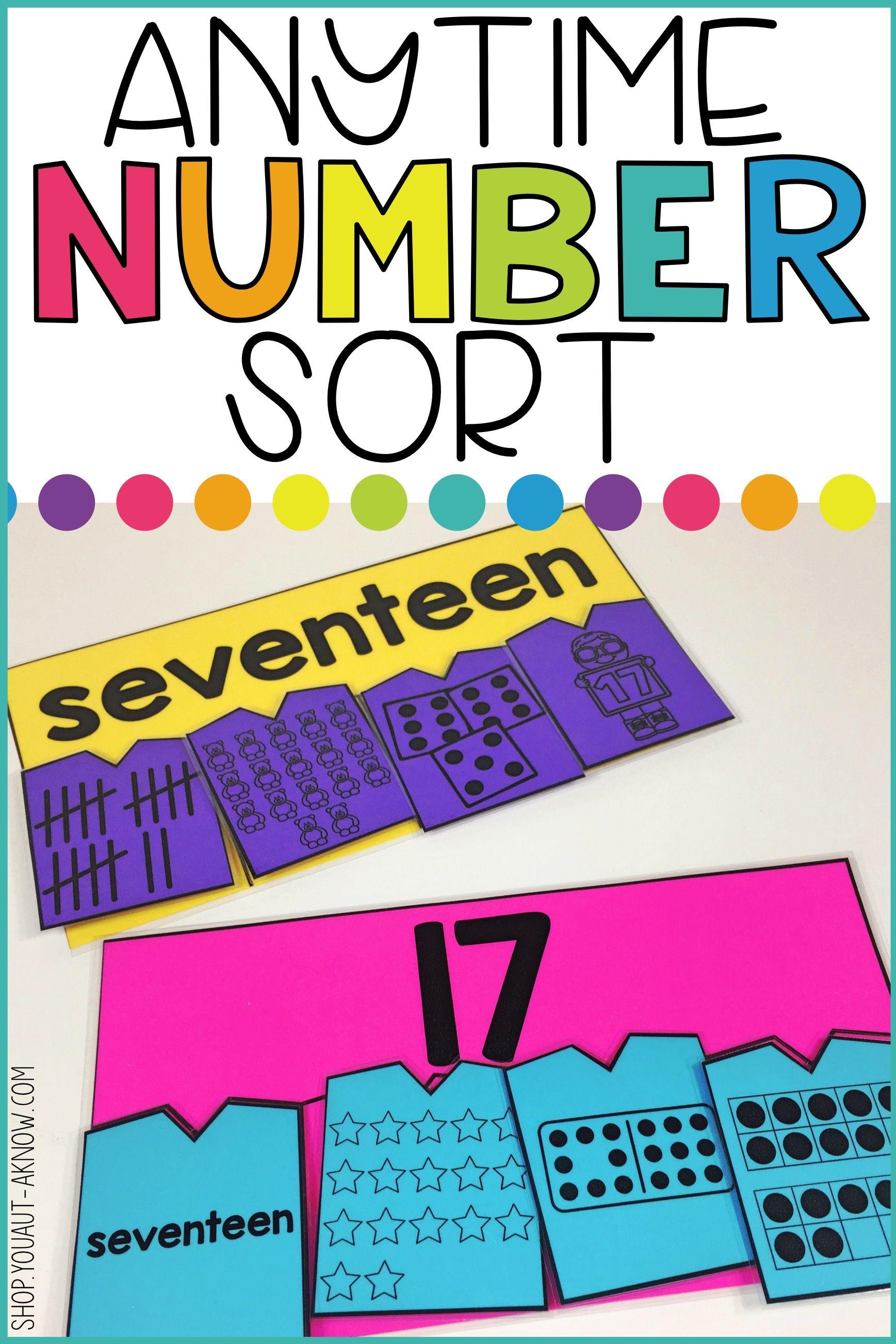 Laminate Velcro And Go Anytime Number Sort 1 20 Tasks