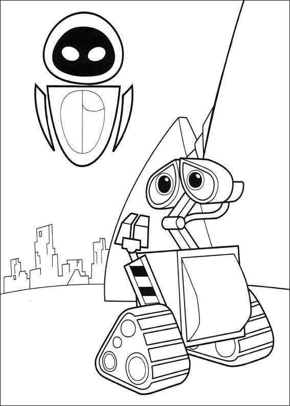 Dibujos para Colorear Wall-E 3 | Dibujos para colorear para niños ...