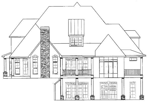 European Traditional House Plan 50248 Rear Elevation My Dream