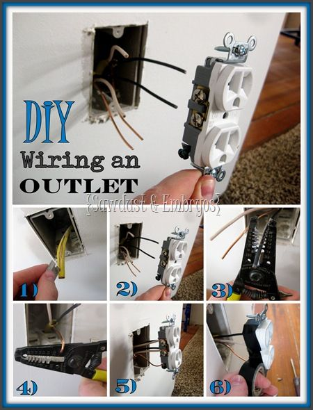 Astounding How To Wire An Outlet Diy Decorating Diy Home Improvement Home Wiring Cloud Nuvitbieswglorg