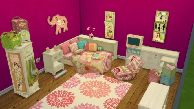 Anna tropical twist room conversion at leo sims via sims 4 for Muebles para los sims 3