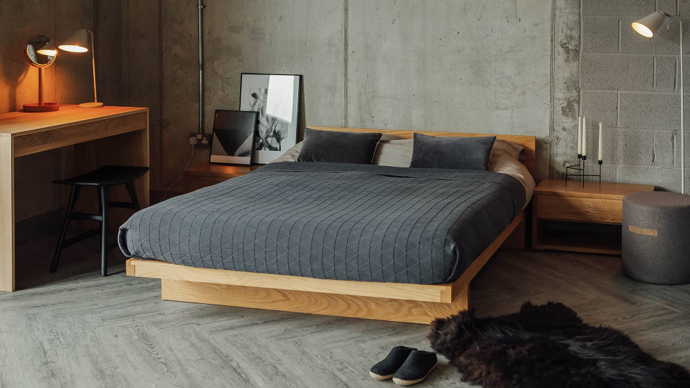 Kyoto Japanese Bed with Headboard Natural Bed Company in