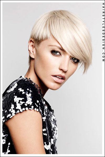 Short Hairstyles - Clean Bleached Blonde Haircut!