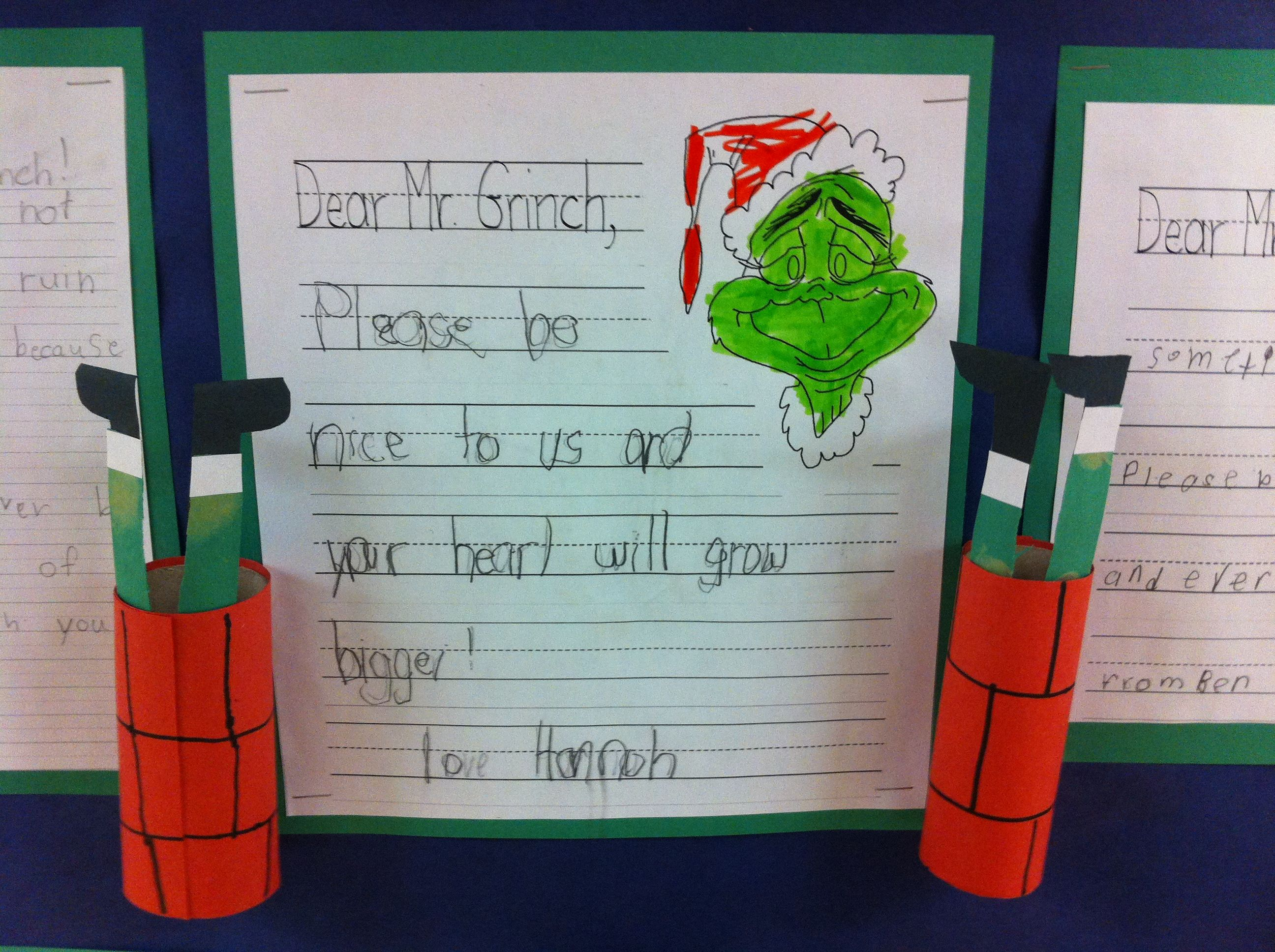 An Example Of The Advice My Primary Kids Gave The Grinch