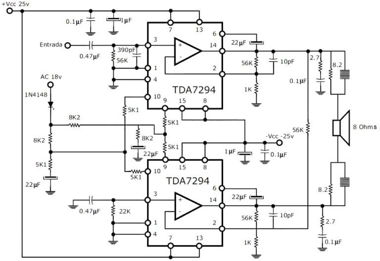 300W RMS Stereo Power Amplifier Circuit Schematic Hi Fi in 2019