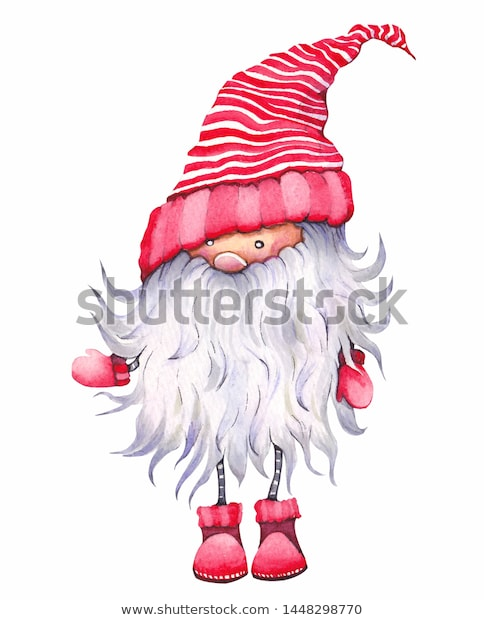 Illustration De Stock De Christmas Cartoon Elf Known Scandinavian Dwarf 1448298770 Christmas Drawing Christmas Illustration Elf Drawings