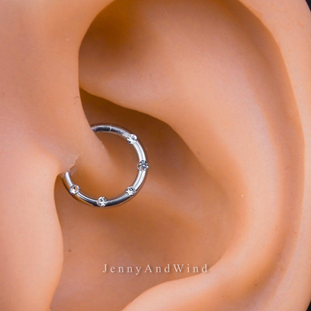 Belly piercing 2018  Zircon Hoop Daith Earring Septum Ring Nose Ring in   Amazing