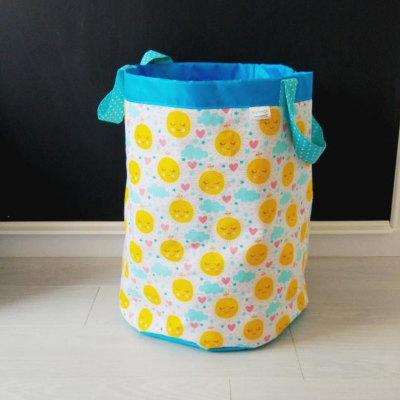Fabric Basket Toy Box Basket For Toys Toy Storage Fabric Storage Basket Laundry Basket Storage Bin Laundry Bag Sun Print Gift For Baby Fabric Storage Baskets Toy Storage Baskets Toy Storage