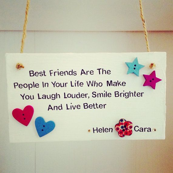 Friend Quote Plaque : Personalised best friends quote handmade plaque