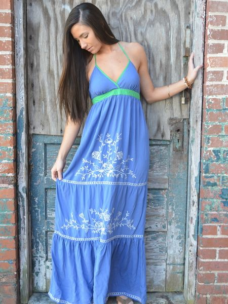 Flying Tomato Embroidered Maxi - $48.00 : ShopBloved, Live Laugh and Bloved