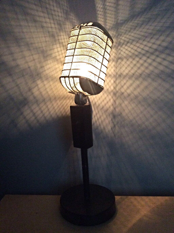 Vintage Microphone Lamp In 2020 Microphone Lamp Music Studio Decor Music Room Decor