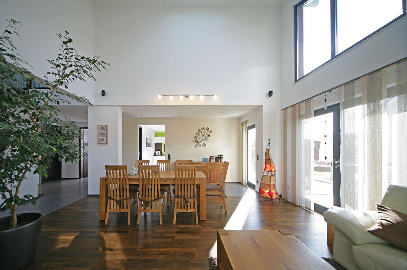 Modernes bungalow innenarchitektur wohnzimmer esszimmer  house  pinterest  house
