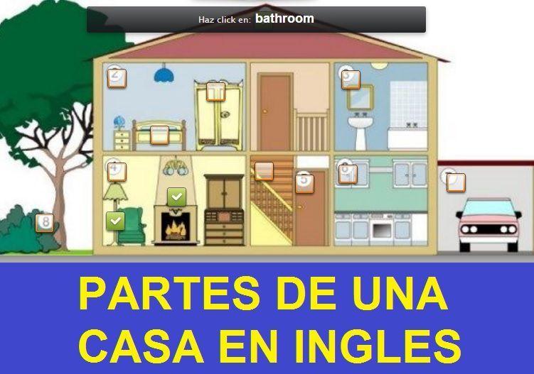 Partes de una casa en ingles juego interactivo escuela en casa pinterest - Partes de la casa en ingles para ninos ...