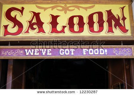 Stock photo : saloon sign in wild west style signs & wood crafts
