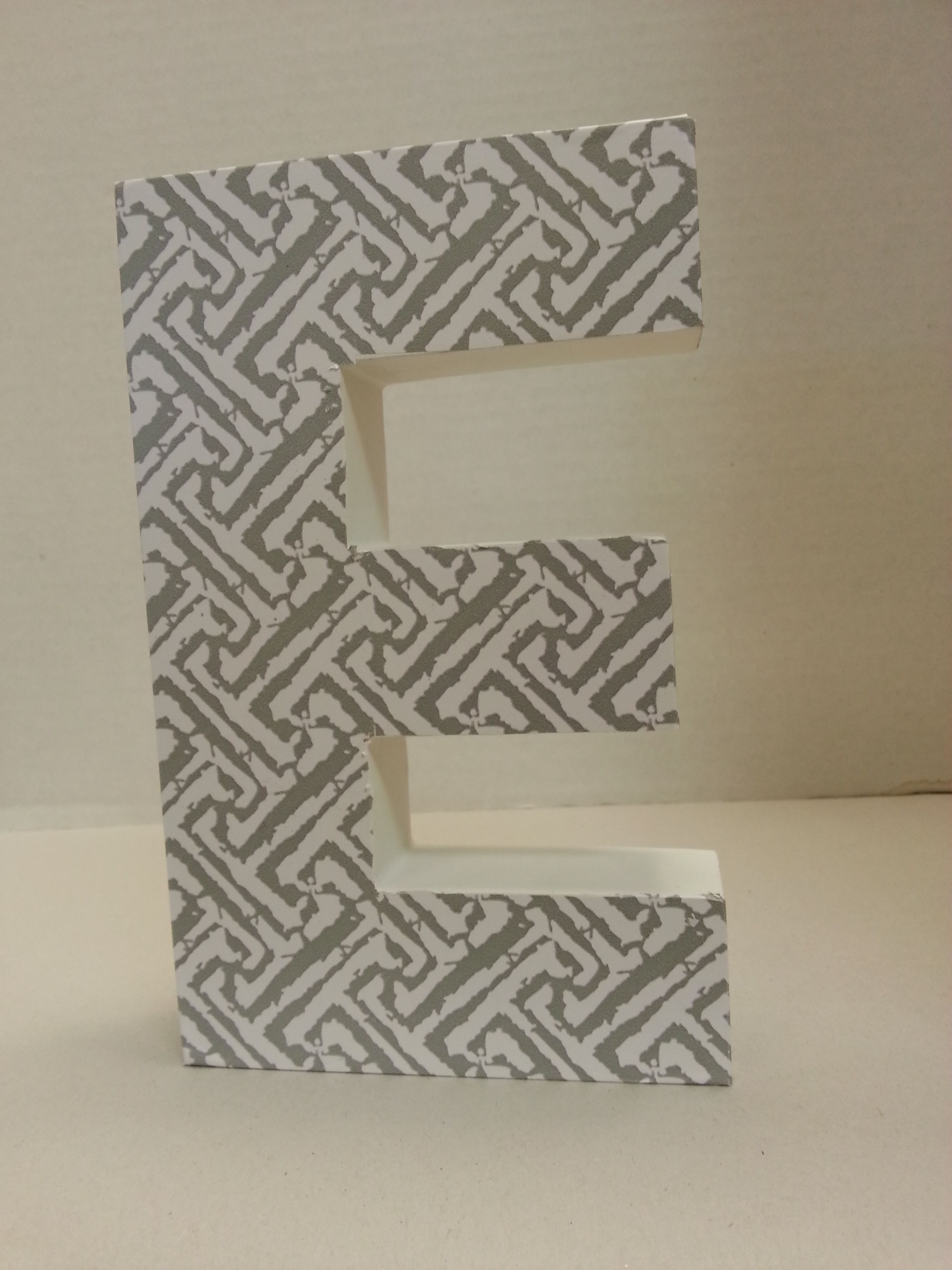 Block Letter E Industrial Rustic Block Letter E Sign Teal Recycled