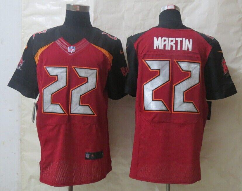 finest selection 97b2d 23320 Men's NFL Tampa Bay Buccaneers #22 Martin Red Elite Jersey ...