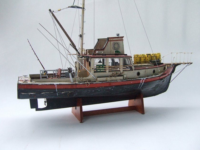 A Model Of Orca Boat From Spielberg S Jaws Jaws Boat Orca Jaws Movie