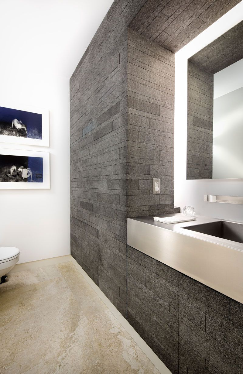 Modern house interior bathroom this contemporary house was designed with a floating box above a