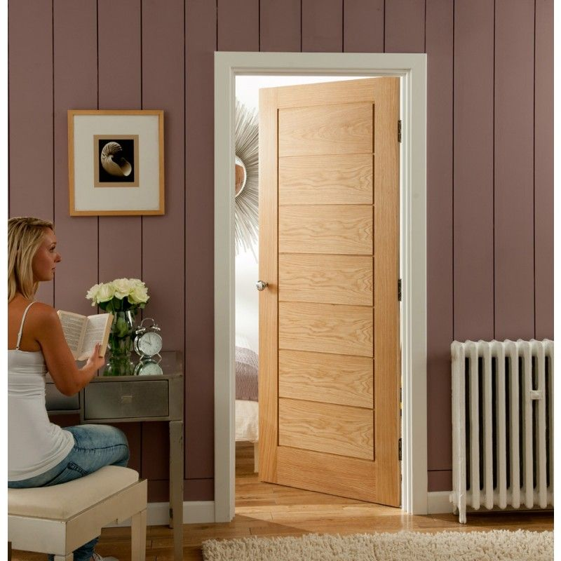 Contemporary Cottage Horizontal Oak Door - a nod to traditional but with a real modern flair & Contemporary Cottage Horizontal Oak Door - a nod to traditional but ...