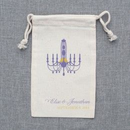 Chandelier Customized Wedding Favor Bags