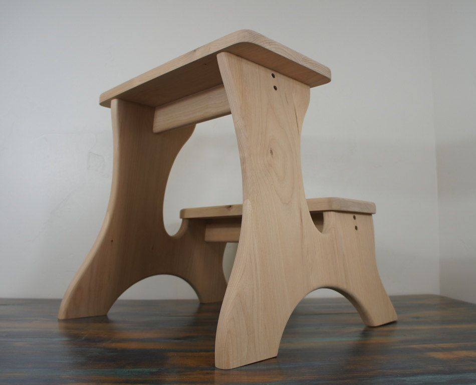 Wooden Stools Unfinished Very Big Unfinished Step Stool