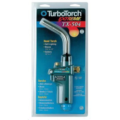 TurboTorch Extreme® Self Lighting Torches - tx504 turbo extreme torch clam pack