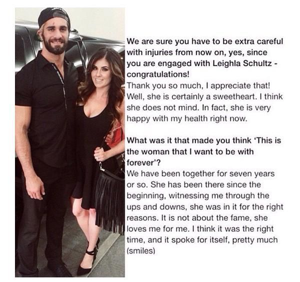 Seth Rollins And Leighla Schultz Engaged