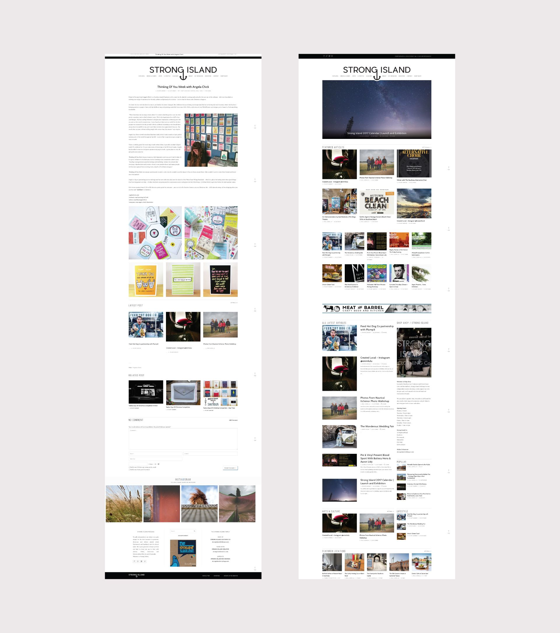 Website Design Blog Design For Strong Island Blog Web Design Innovation Design Website Design