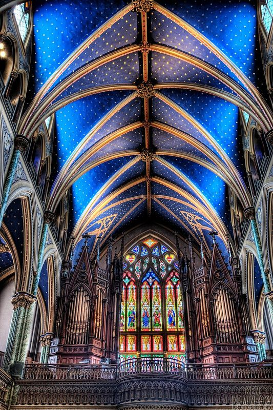 The Notre-Dame Cathedral Basilica in Ottawa, Canada, is the oldest church in Ottawa and the seat of the city's Catholic archbishop.