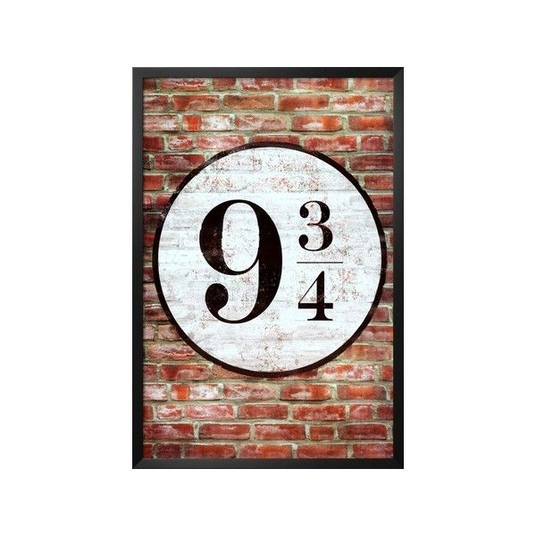 Platform 9 3/4 King's Cross Poster Print Lamina Framed Poster (€38) ❤ liked on Polyvore featuring home, home decor, wall art, harry potter, framed wall art, framed posters, cross home decor and cross wall art