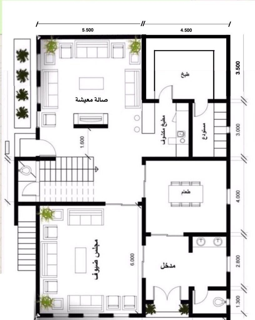 Pin By مخططات معمارية On Residential Architecture My House Plans Model House Plan Home Stairs Design