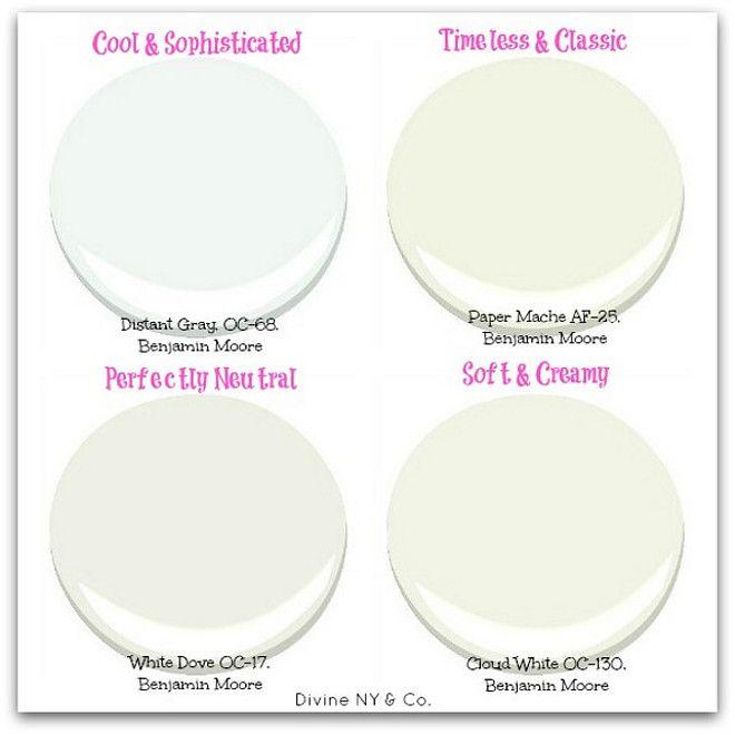 White Paint Color Types. Cool White Paint Color Distant