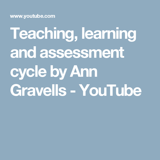 Teaching learning and assessment cycle by ann gravells youtube teaching learning and assessment cycle by ann gravells youtube fandeluxe Gallery