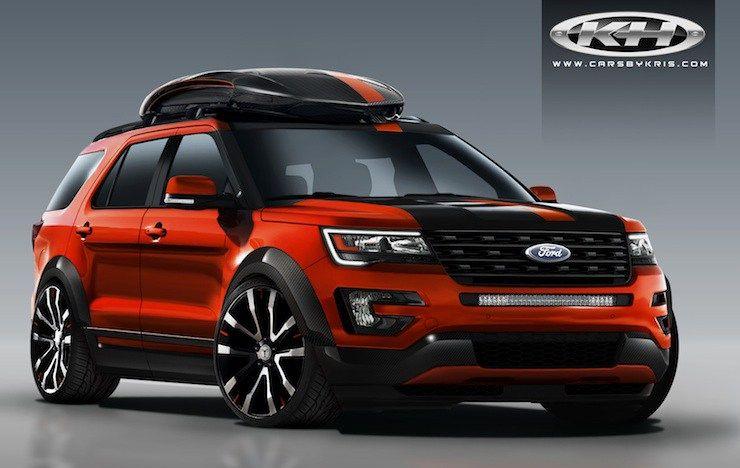 4 Wild 2016 Ford Explorer Sport Models Invade Sema Ford Explorer