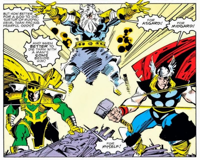 "Odin, Thor, Loki ""For Asgard!"" ""For Midgard!"" ""For myself ..."