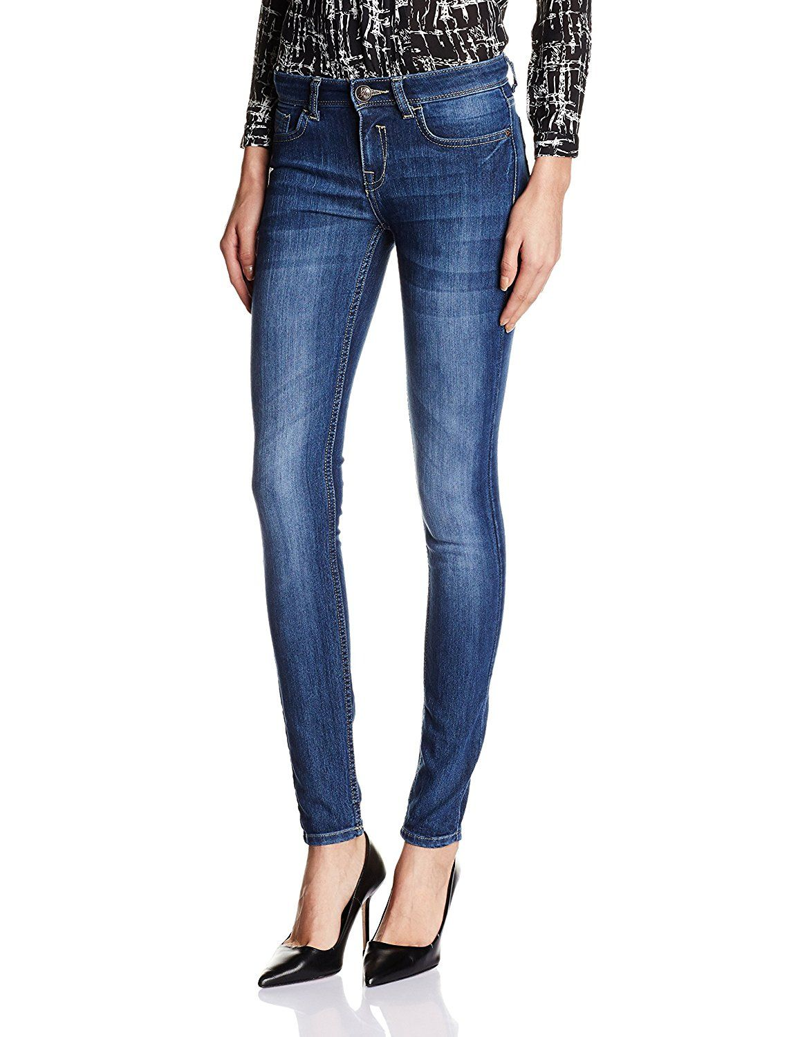 Jealous 21 Women's Blue cotton Skinny Jeans Color : Blue color ...