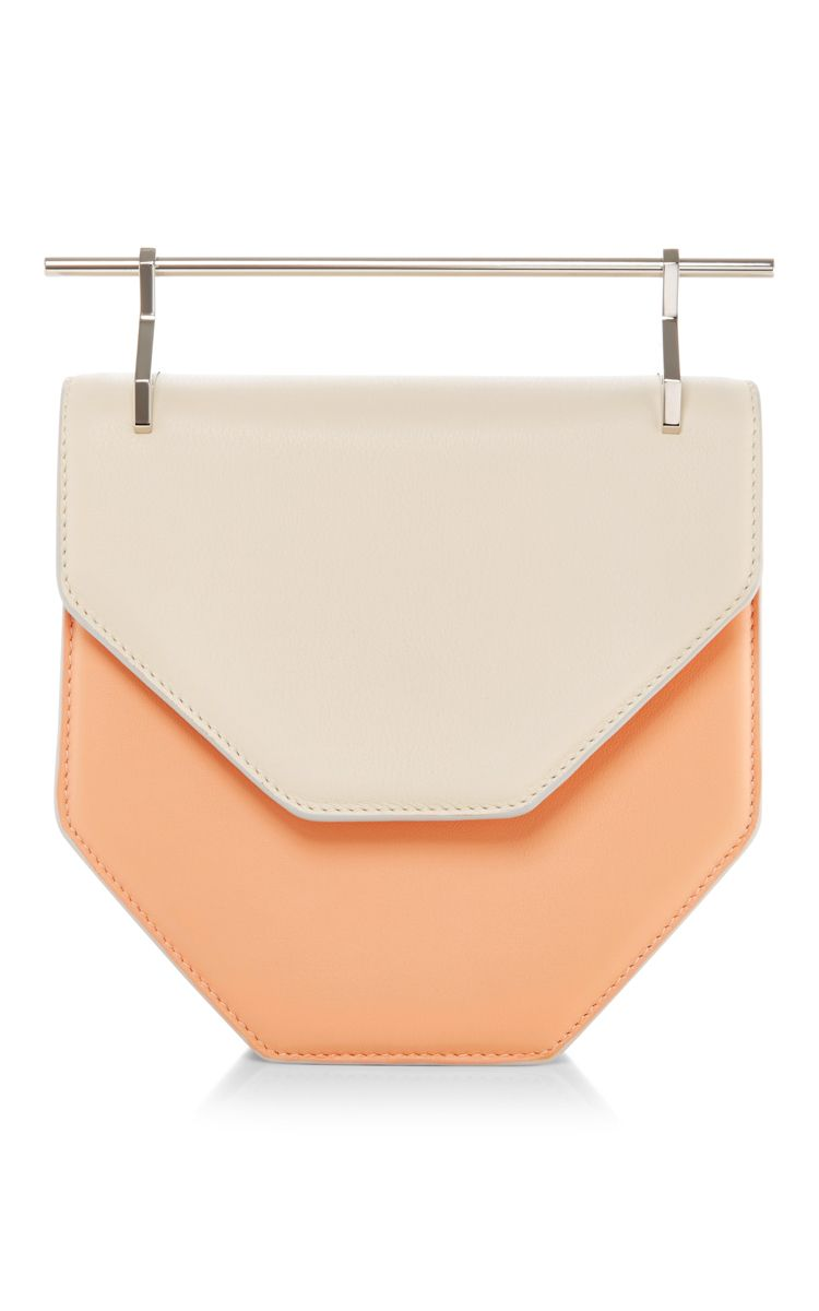 Amor Fati Calf Leather Bag In Pastel Orange & Ivory by M2MALLETIER Now Available on Moda Operandi