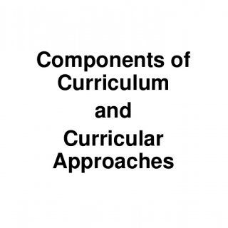 major components of curriculum