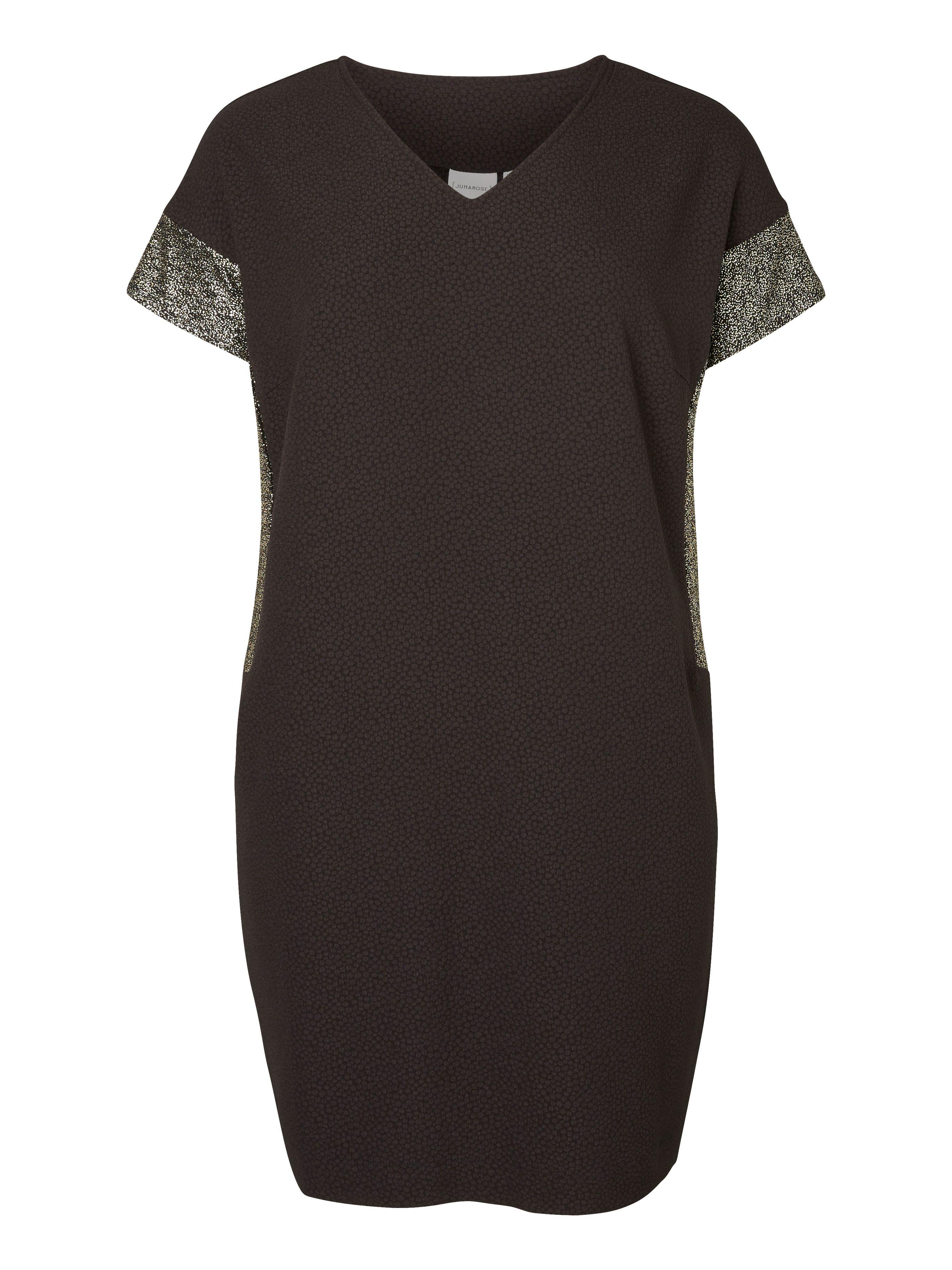 ffd4019e07a Super fede Sort kjole med guld glimmer effekt Junarose Modetøj til Damer i  luksus kvalitet