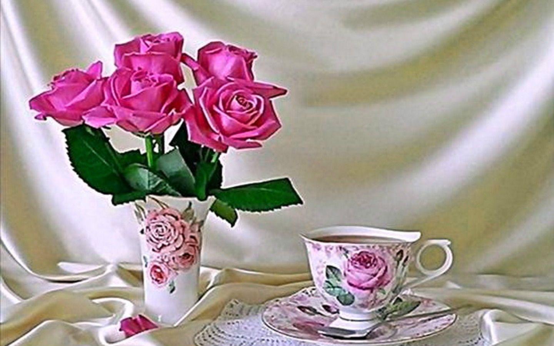 Beautiful happy birthday friend good morning coffee