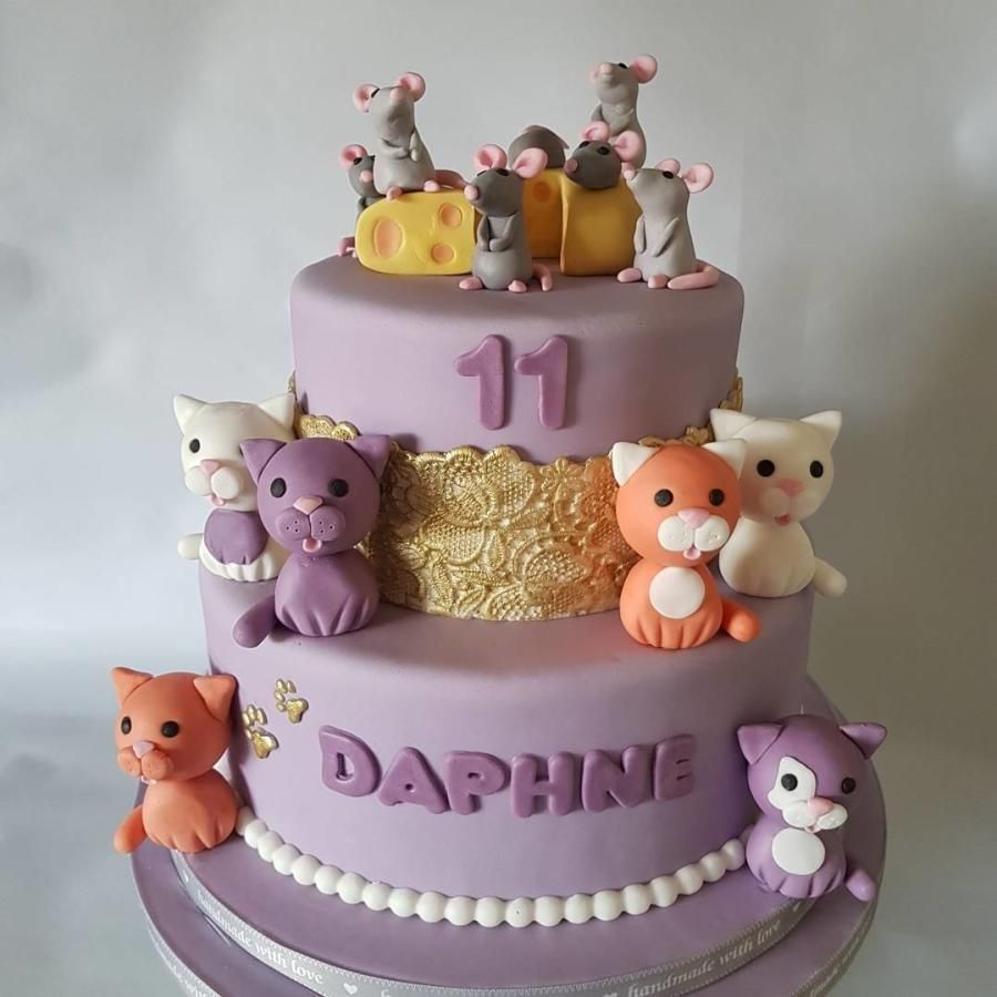 Fantastic Cats And Mice Cake By Anneke Van Dam With Images Birthday Personalised Birthday Cards Arneslily Jamesorg