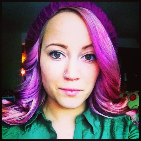 Purple Pink Hair Dyed With Shampoo And Food Coloring Lasts About A Month Add Food Coloring To Shampoo To Hair Color Pastel Wild Hair Color Light Brown Hair
