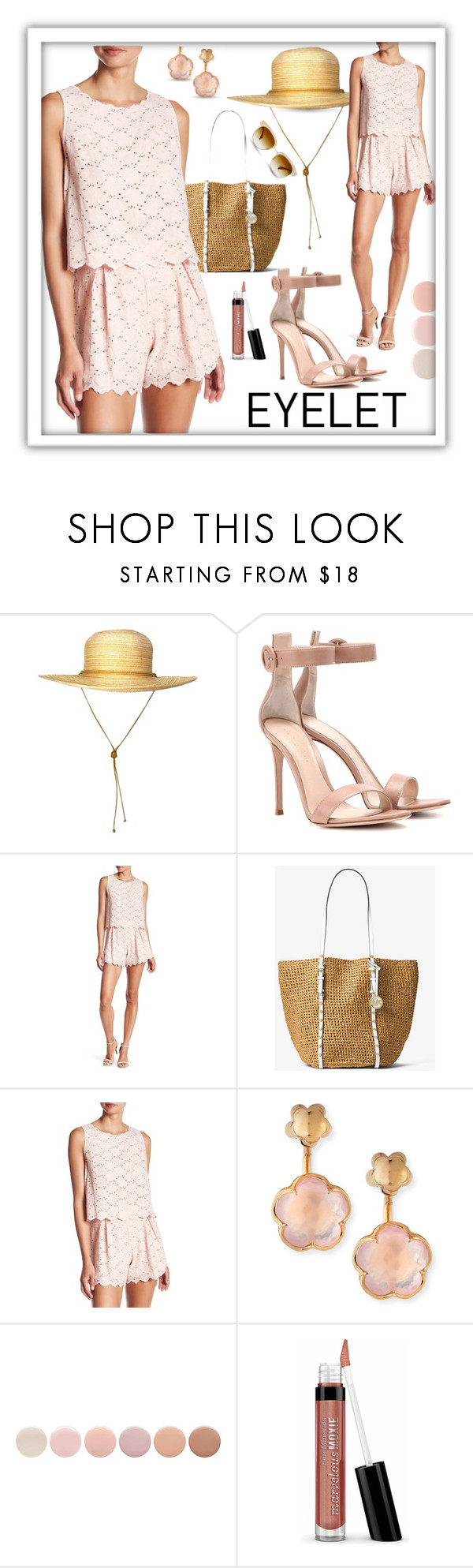 """""""Peek-a-Boo"""" by queenofsienna ❤ liked on Polyvore featuring Gianvito Rossi, Do+Be, MICHAEL Michael Kors, Pasquale Bruni, Deborah Lippmann, Bare Escentuals and Oliver Peoples"""