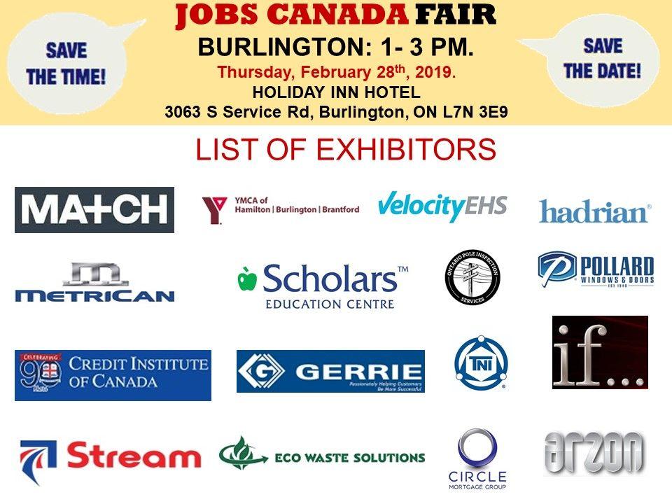 List of Hiring Companies for Burlington Job Fair February