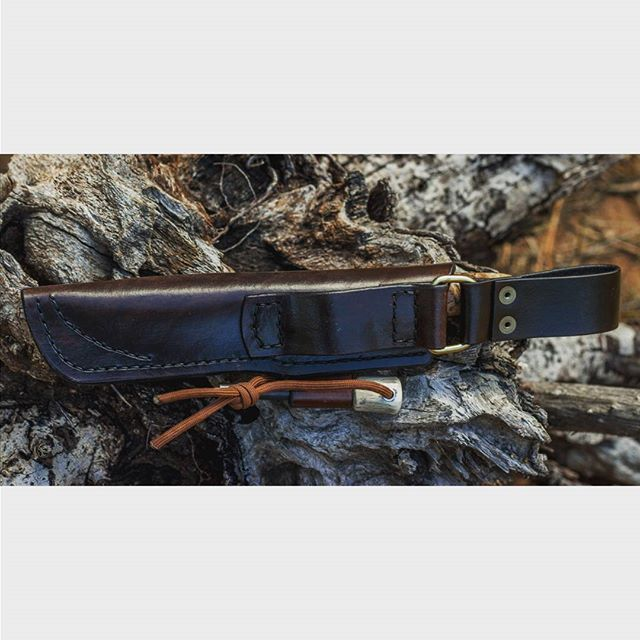 Ranger Field knife in acid etched ATS34 stainless with stabilized spalted maple scales and black spacers.  Bushcraft sheath with dangler and antler firesteel with stainless lanyard hole.  #jabakerknives  #knifeporn #knife #knives #hiking #bushcraft #camping #everydaycarry #everydaytactical #tactical #usnfollow #usnstagram #hunting