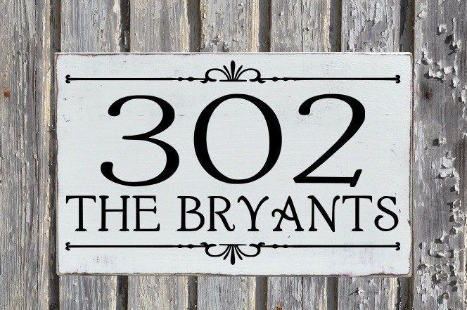f994b6fdca9f Large House Numbers Sign Outdoor Address Plaque Personalized Wood Home  Number Signs