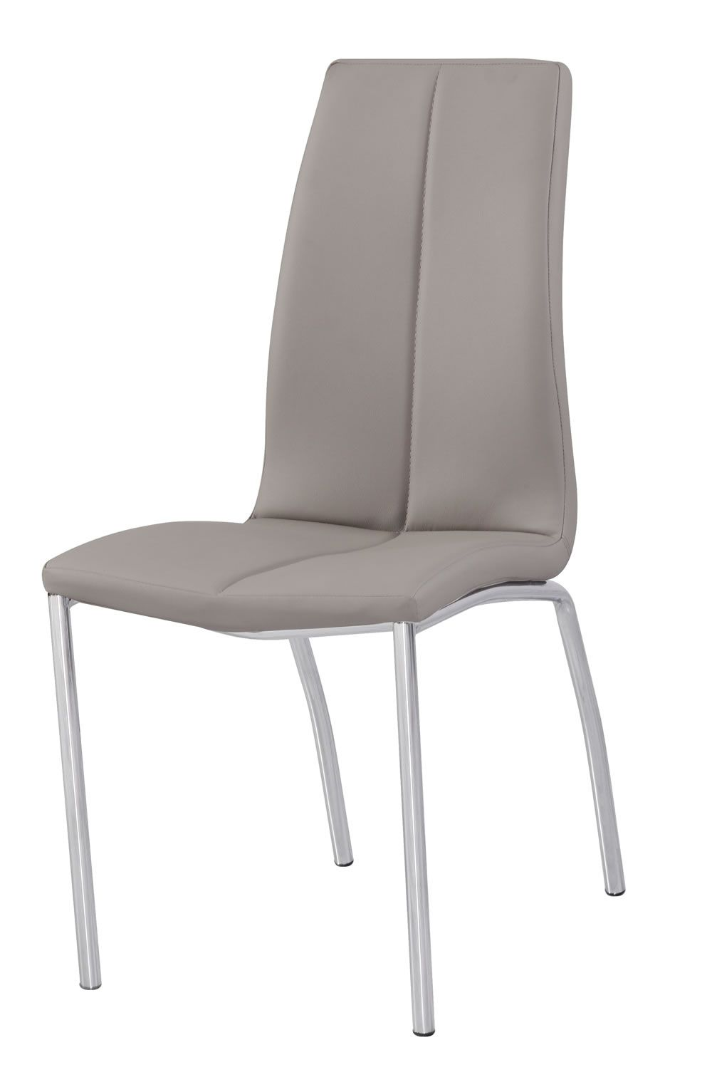 Nirvana Kitchen Dining Chair Padded Faux Leather and Chrome - BLack ...