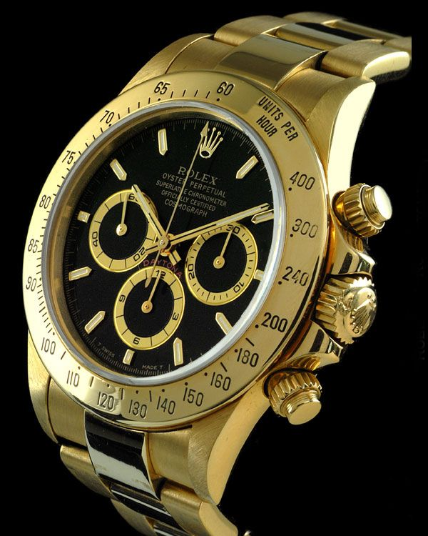 The Rolex Daytona Cosmograph in 18K solid gold: $22,500
