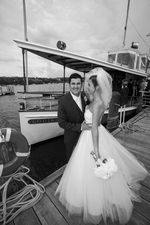 Williams bay wedding the lady of the lake cruise line weddings